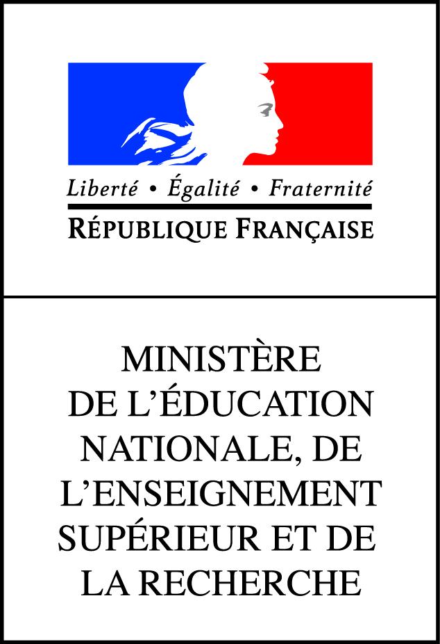Logo du Ministère de l'Education Nationale, de l'Enseignement Supérieur et de la Recherche