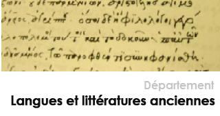 LETTRES - Département Langues et littératures anciennes